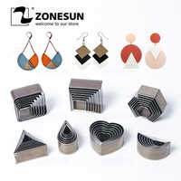 ZONESUN Half-Circle Drop Leather Cutting Die Clicker Steel Rule Die 20/25/30/50mm Punching Tool For Cutting Out Leather Earring