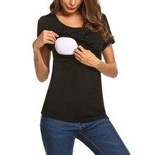 Женская одежда для беременных; футболки для грудного вскармливания; топы для кормящих; летняя футболка с короткими рукавами для грудного вскармливания; Футболка для беременных; одежда