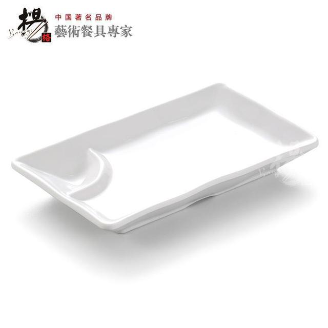 BUFFET fast food plastic melamine sushi chafing plate dinner dish set with sauce compartment restaurant tableware  sc 1 st  AliExpress.com & BUFFET fast food plastic melamine sushi chafing plate dinner dish ...
