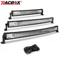 Tri row 5 12 18 20 22 32 42 inch Curved Led Light Bar Offroad Led Bar Flood Spot Combo Beam 12V 24V for ATV LED Work Light Bar