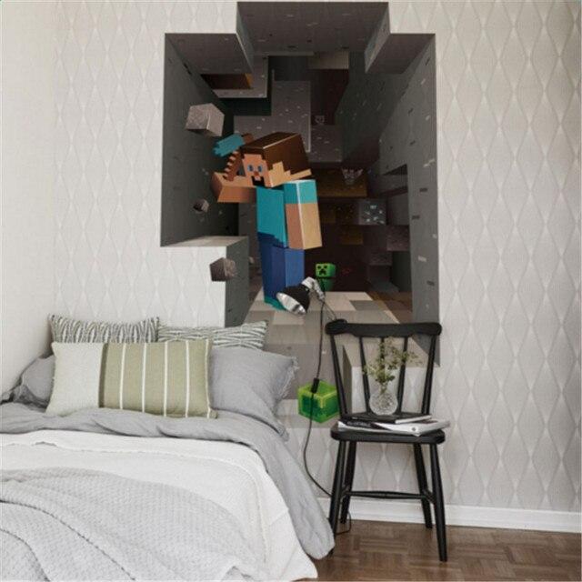 Cartoon DIY Behang Voor Kinderen Kamers Sofa Slaapkamer woonkamer ...