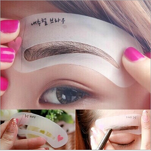 Eyebrow Grooming Stencil Kit Template Make Up Shaping DIY tools 2