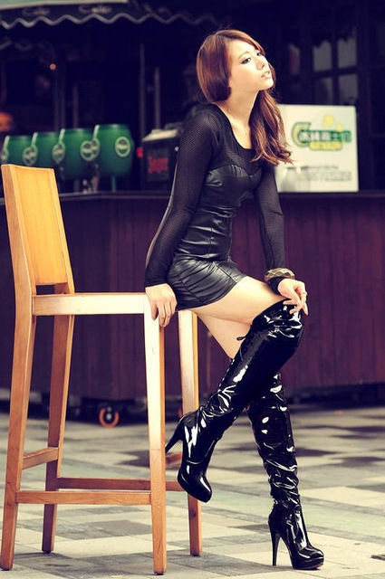 Hot Sale New Arrival Fashion Ladies Sexy Knee High Boots -2249