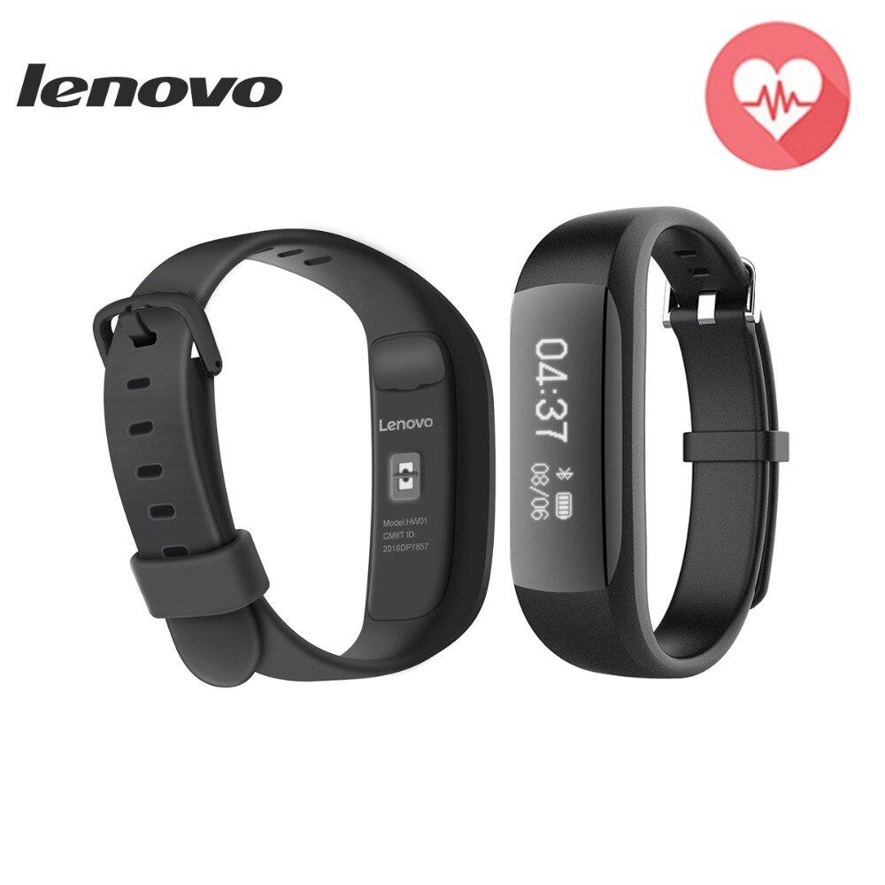imágenes para Hot Lenovo HW01 Pulsera Inteligente Bluetooth 4.2 Monitor Del Ritmo Cardíaco podómetro Deportes Gimnasio Rastreador Para Android IOS pk mi banda 2