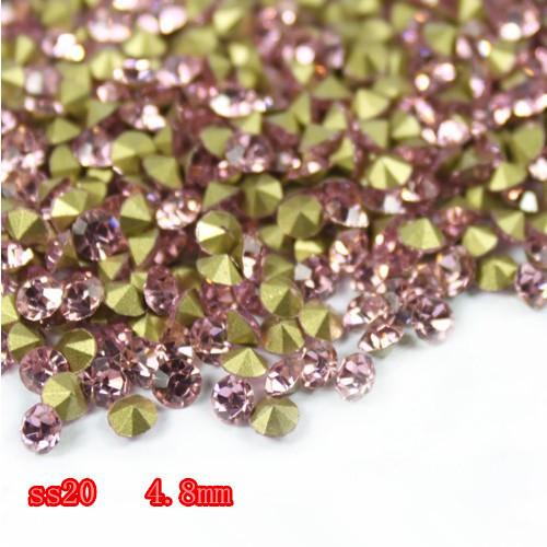 1,440 unids SS20 ( 4.6 mm - 4.8 mm ) señaló hacia piedras Light Rose Color envío gratis