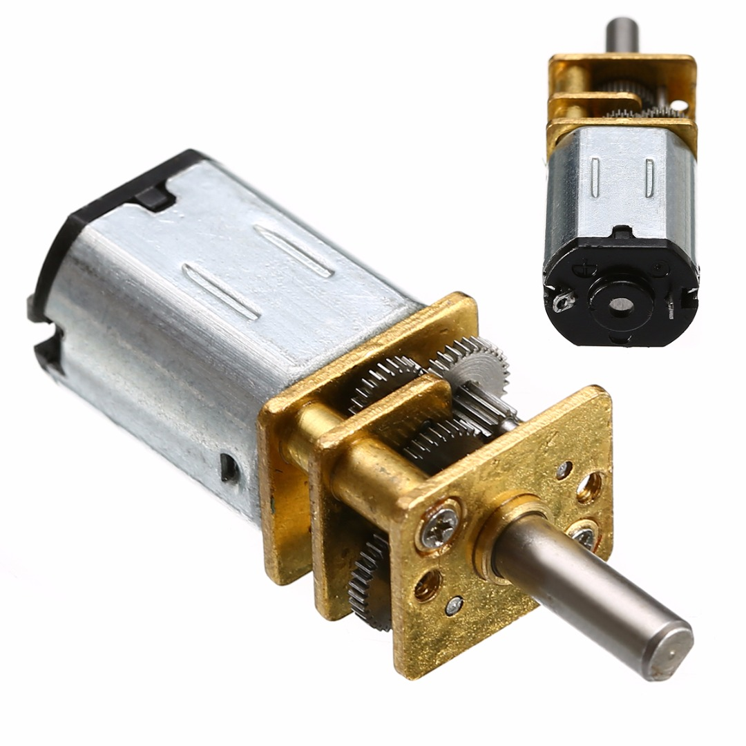 30RPM <font><b>N20</b></font> Speed Reduction Gear Motors DC 6V Micro Speed Gear Motor with Metal Gearbox <font><b>Wheel</b></font> For RC Car Robot Model image