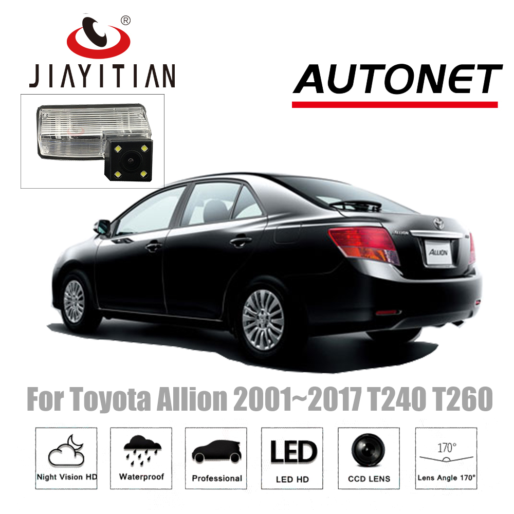 JiaYiTian rear camera For Toyota Allion 2001~2017 CCD Night Vision Backup camera Parking Camera Reverse Camera license plate CAM jiayitian rear camera for chevrolet orlando 2010 2017 ccd night vision backup camera reverse camera parking license plate camera