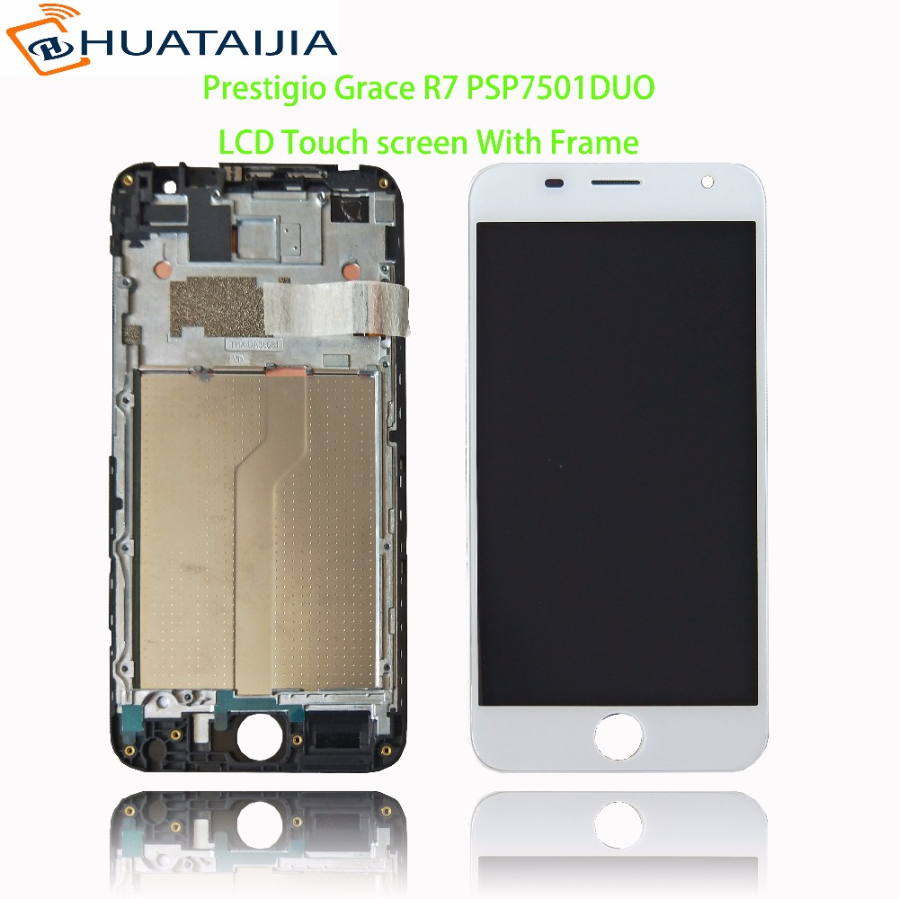 5.0 LCD Display + Touch screen For Prestigio Grace R7 PSP7501DUO psp 7501 duo pas7501 digitizer panel lens glass Assembly in stock 5 5 touch screen for prestigio grace r5 lte psp5552duo psp5552 lcd display and digitizer panel sensor for grace r5