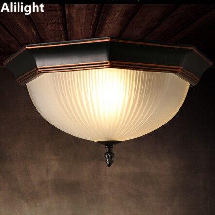 Octagon Deckenleuchten Europaischen Stil Retro Led Lampe Kuche