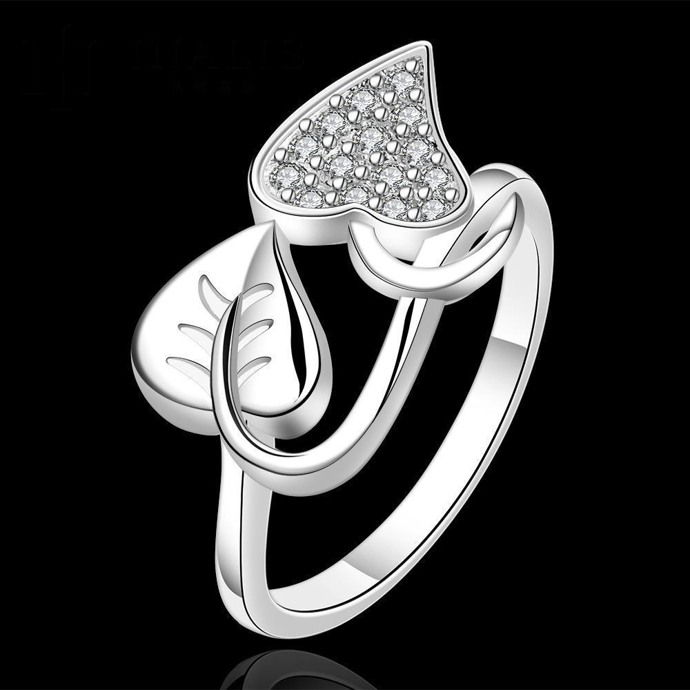 7c92d7553 Venta caliente! moda ANILLO DE PLATA 925 joyería de plata esterlina, anillo  cristalino R557
