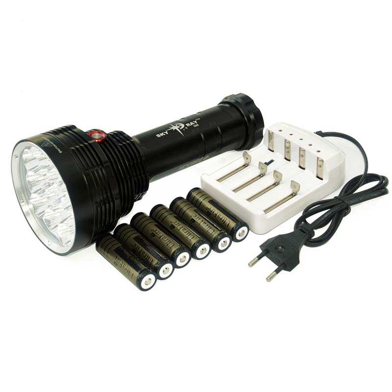Super Bright 16 x 20000 Lumen XML-T6 LED Flashlight Super Strong Outdoors Torch FlashLight LED Light + 18650 Battery + Charger sitemap 44 xml