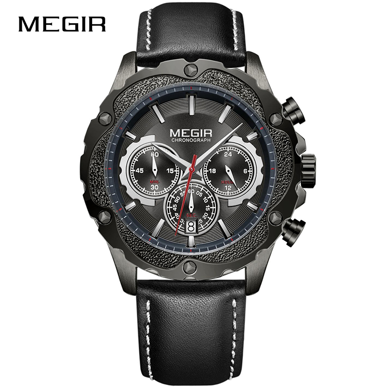 MEGIR Top Brand New Men's Military Sports Watches Waterproof Fashion Casual Quartz Wrist Watch Men Clock Male Relogio Masculino megir men s military sports watches fashion luxury top brand quartz wrist watch men leather strap clock male relogio masculino