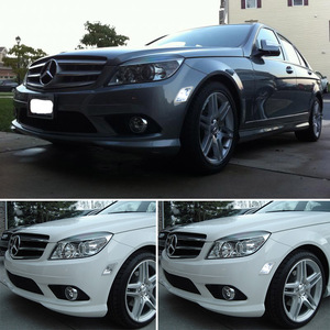 Image 5 - Gtinthebox luces laterales para Mercedes Benz W204, C250, C300, C350, C63, AMG, con LED blanco, transparente, para 2008 2011