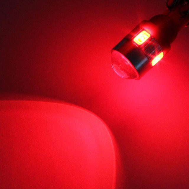 2 шт. t10 w5w интерьер ксеноновые белый синий красный светодиод canbus 6smd 5630 объектив проектора твердого алюминия лампы боковой габаритный парковка свет
