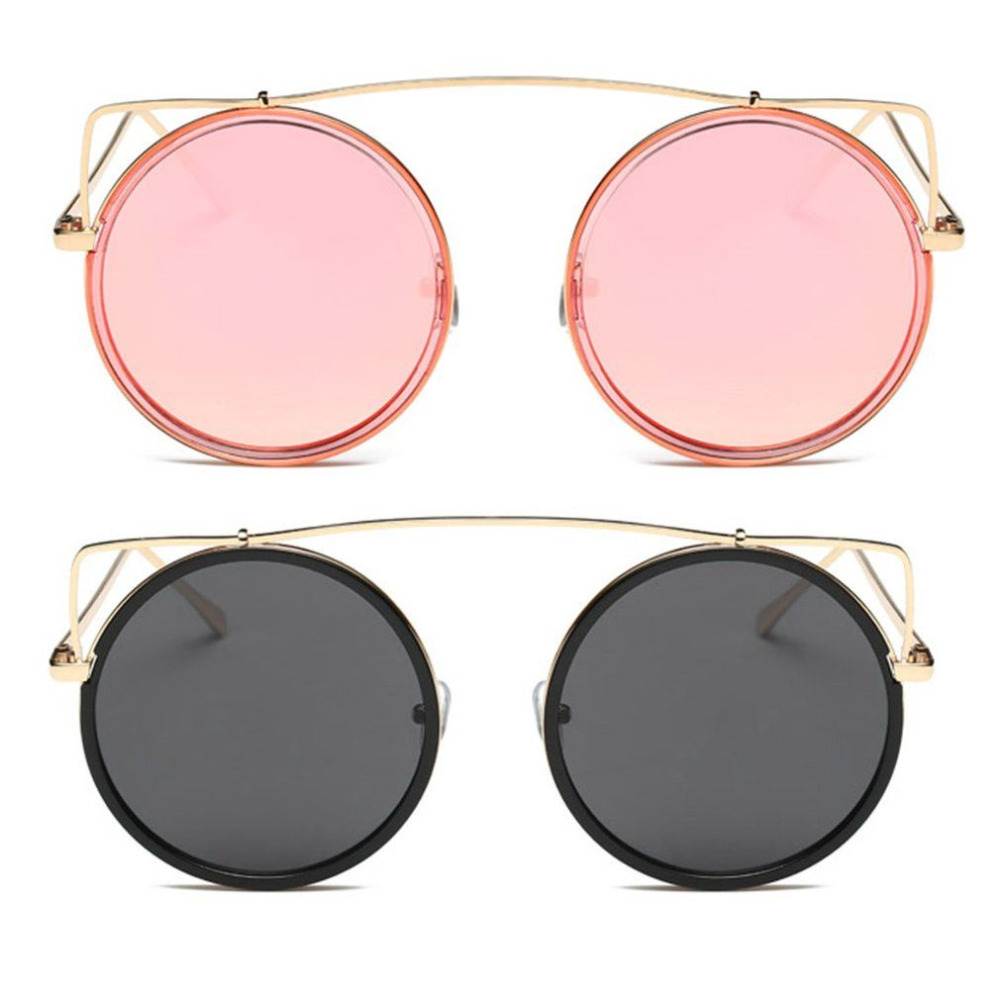 7ccee7850c 2017 Stylish UV400 Sunglasses Women Metal Round Frame Hollow Out Vintage HD  Lenses Outdoors Eyewear Male Female Sun Glasses Men