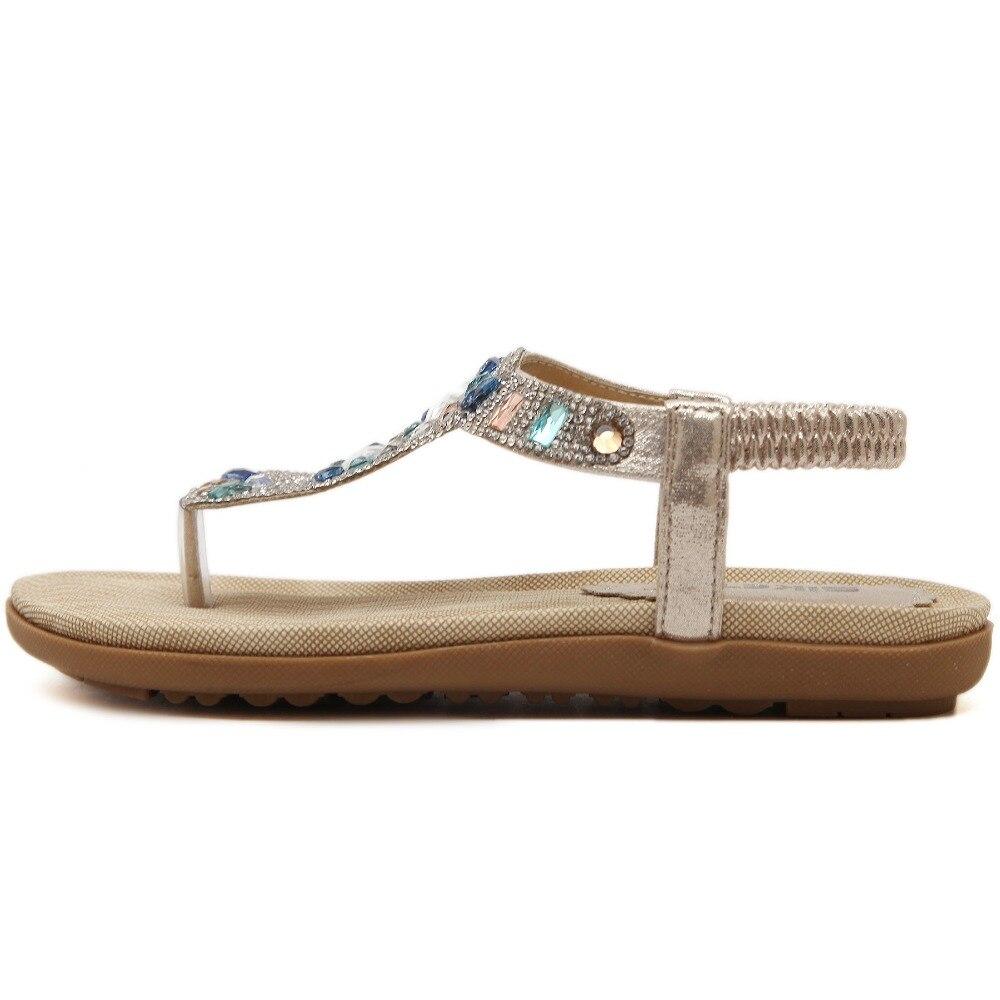 cddaa96a0 SIKETU Nova Boemia verão sandálias sapatos moda mulher strass flip flop  sandálias de praia plana suave elástico tamanho 35 41 em Sandálias das  mulheres de ...