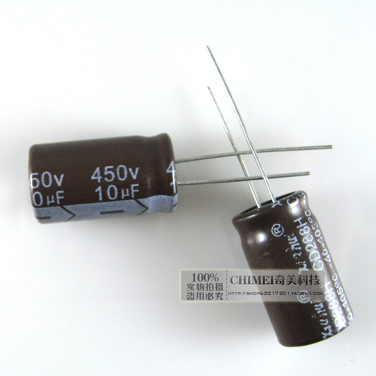Electrolytic Capacitor 10UF 450V Volume 12X20MM Capacitor
