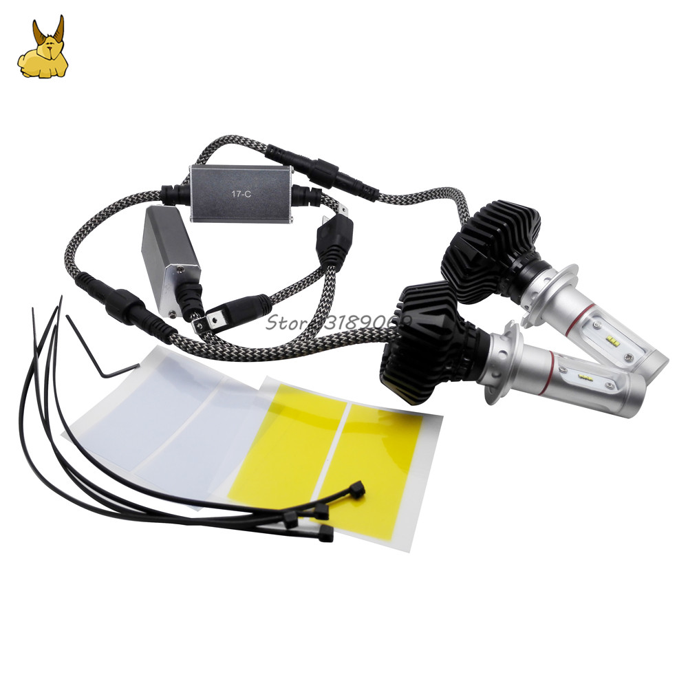 Auto Car Light H7 Led Headlights 6000K 30W 4000LM COB Chip Automobiles Part Lamp Bulb for Vw Mercedes Benz Nissan Peugeot Skoda auto fuel filter 163 477 0201 163 477 0701 for mercedes benz