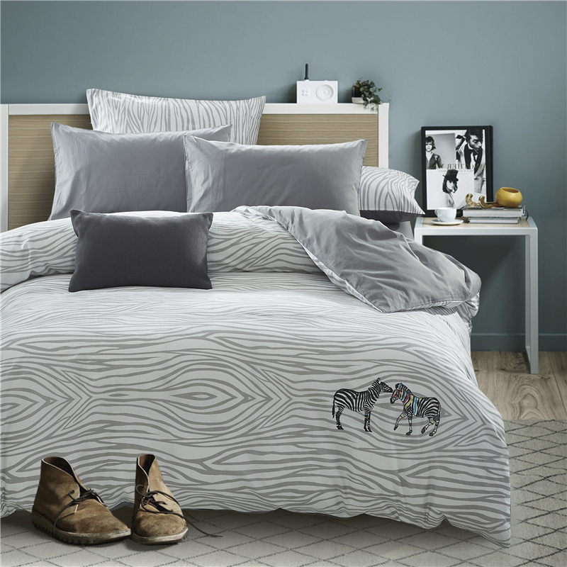 4pcs New 100%Cotton printed embroidery 22 styles Bedding set comfortable Duvet Cover set Bedsheet Pillowcases Queen Size