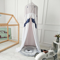 Cartoon Baby Crib Shark Shape Netting TentIns Nordic Baby Cot Mosquito Net Baby Bed Curtain Hanging Canopy Room Decoration