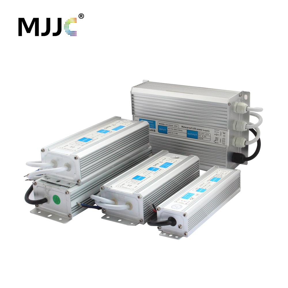 Transformer 220V 24V Waterproof IP67 LED Driver 24 Volt Power Supply Unit 110V 10W 15W 20W 30W 60W 100W 120W 150W 200W Outdoor