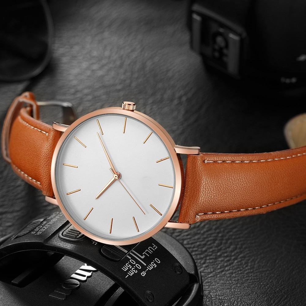 Cassic Geneva Men Watch High Quality Scale Dial Fashion Quartz Male Wristwatches Cool Clock Leather Strap Gift Reloj Hombre@50