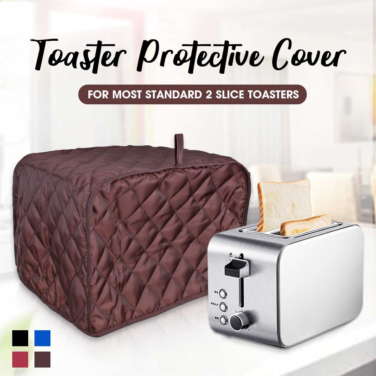 Toaster Cover Anti Dust Cover Bread Maker Machine Toaster Cover-ups Case For Two Slice Toaster Anti Fingerprint Protective Cover
