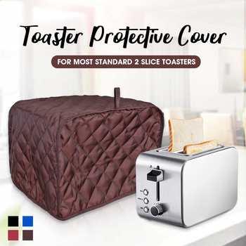 Toster pokrywa Anti pył pokrywa maszyna do chleba maszyna toster Cover-up przypadku dla dwóch kromka toster anty linii papilarnych pokrywa ochronna tanie i dobre opinie Toaster Protective Cover 100 poliester Nowoczesne 19 5*29*19cm