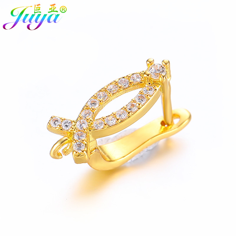 Juya DIY Errings Components Supplies Creative Fastener Basis Earring Hooks Accessories For Fashion Dangle Earring Jewelry Making