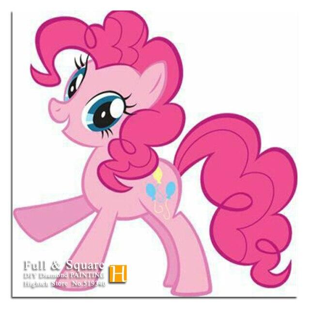 My Little Pony Diy Full Diamond Embroidery Pink Horse Kid Room Decor