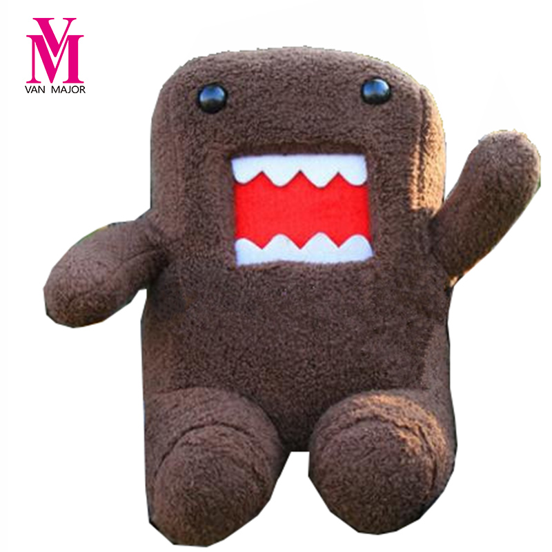 20cm DomoKun Funny Domo-kun Doll Children Novelty Item Creative Gift The Kawaii Stuffed Plush Toy For Baby Kids Free Shipping 1pc 20cm 7 styles creative expression dumpling toys yan text bubble white foam particles plush pillow kids baby doll funny gift