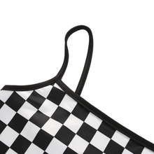 Plaid Tank Tops Stretch Sexy Ladies Club Short Crop Tops Slim Backless Party Short Vest Tops