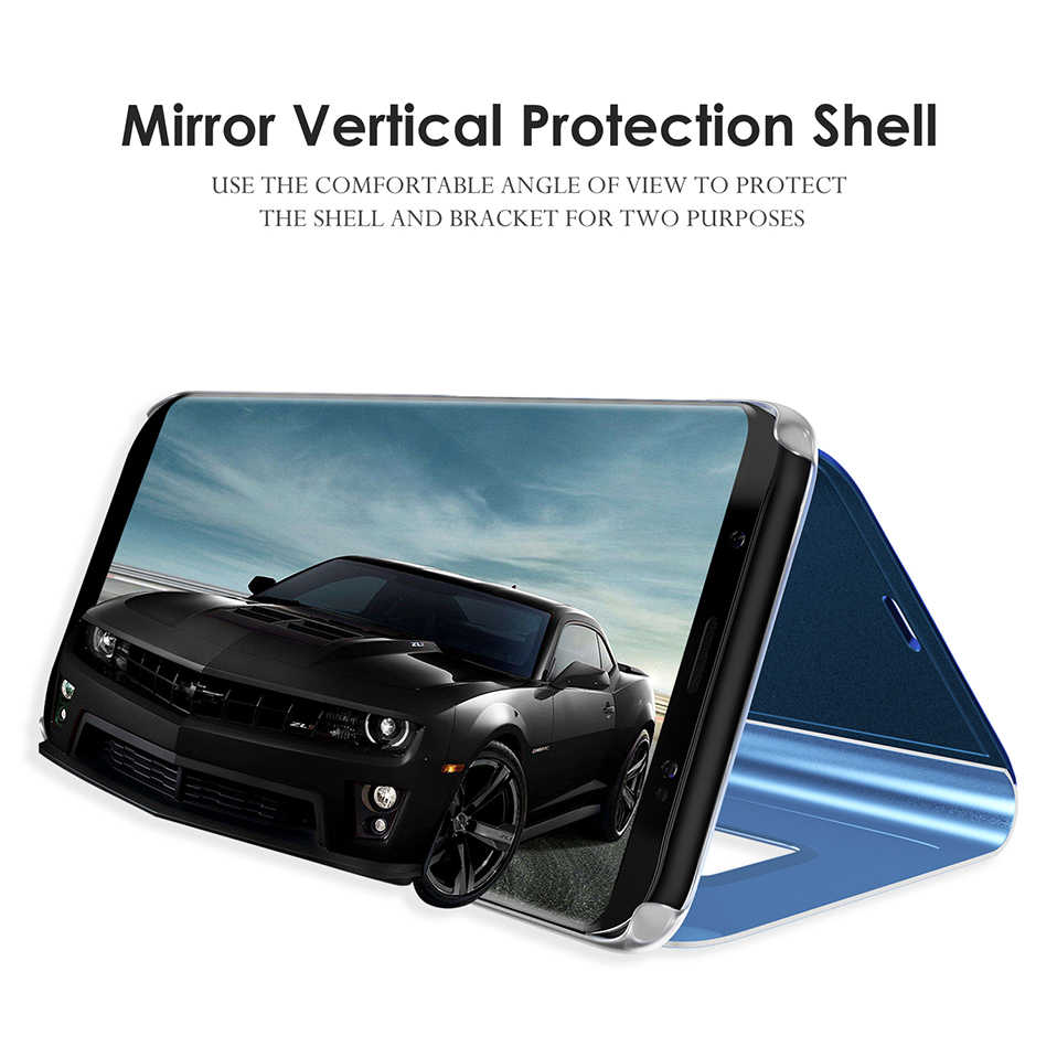 Espejo vista inteligente caso de tirón para Samsung Galaxy S10 5G A40 e S8 S9 más A30 A50 A20 A10 a70 A6 A8 J4 J6 A7 2018 M20 S7 edge