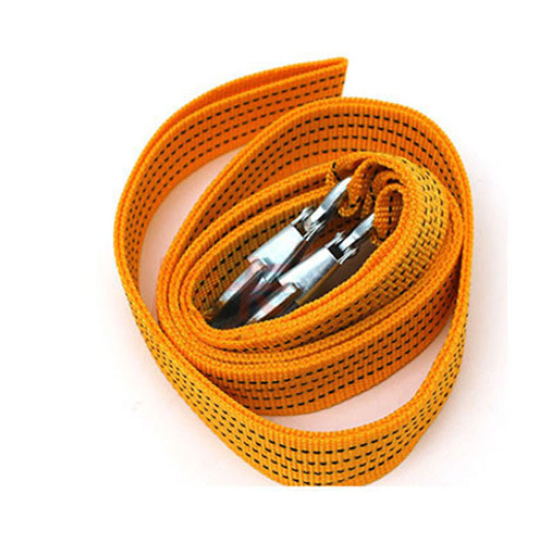 Vehicle Trailer rope outdoor emergency fluorescence thickened nylon tractor strap 4 m 5 t strong traction rope safety in Tensioning Belts from Automobiles Motorcycles
