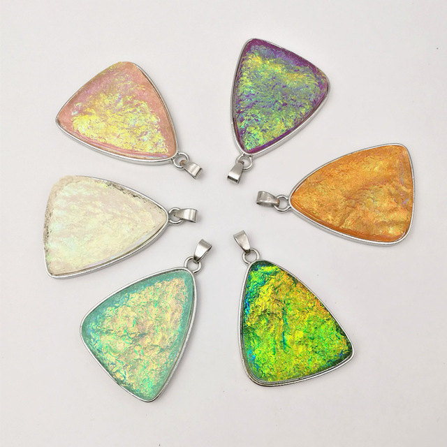 6 Colors Special-shaped Resin Necklace Pendants Size 23x39x42.5 mm Flat back beads DIY Jewelry Finding Cameo Settings E2600