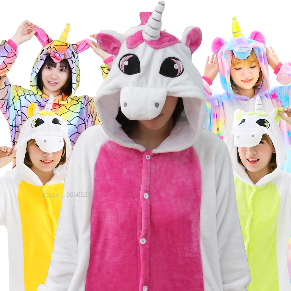 2024abe938 Detail Feedback Questions about New Unicorn Pajamas Sets Women Flannel Cute Animal  Pajamas kits Winter Cartoon Cosplay Onesies Pyjamas One Piece Whole ...