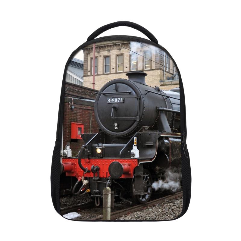 2019 VEEVANV School Backpacks Fashion Locomotive Printing Backpack Landscape Men Shoulder Bags Casual Mochila Children Backpacks