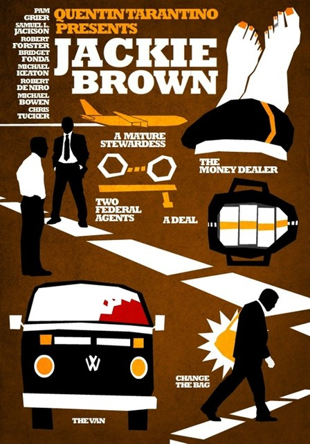 JACKIE BROWN QUENTIN TARANTINO Vintage Retro Canvas Painting Alloy Wood Frame Poster DIY Wall Home Bar Posters Home Decor Gift