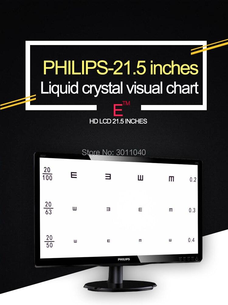 21,5 TFT светодиодный жидкокристаллический диаграмма остроты зрения проектор компьютерный глаз диаграмма оптические инструменты инструмент для оптики