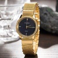 CUSSI Japan Movment Wristwatches Women New designer Bracelet Watches Ipg Gold Plated Office Ladies Clock 2018 Montre Femme
