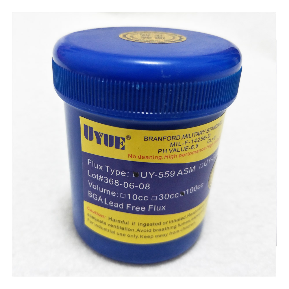 100CC UY-559 ASM Desoldering Flux Paste No Clean BGA NC-559 ASM 559 Flux Paste For SMT BGA Reballing Soldering Welding Repair asm 30 el