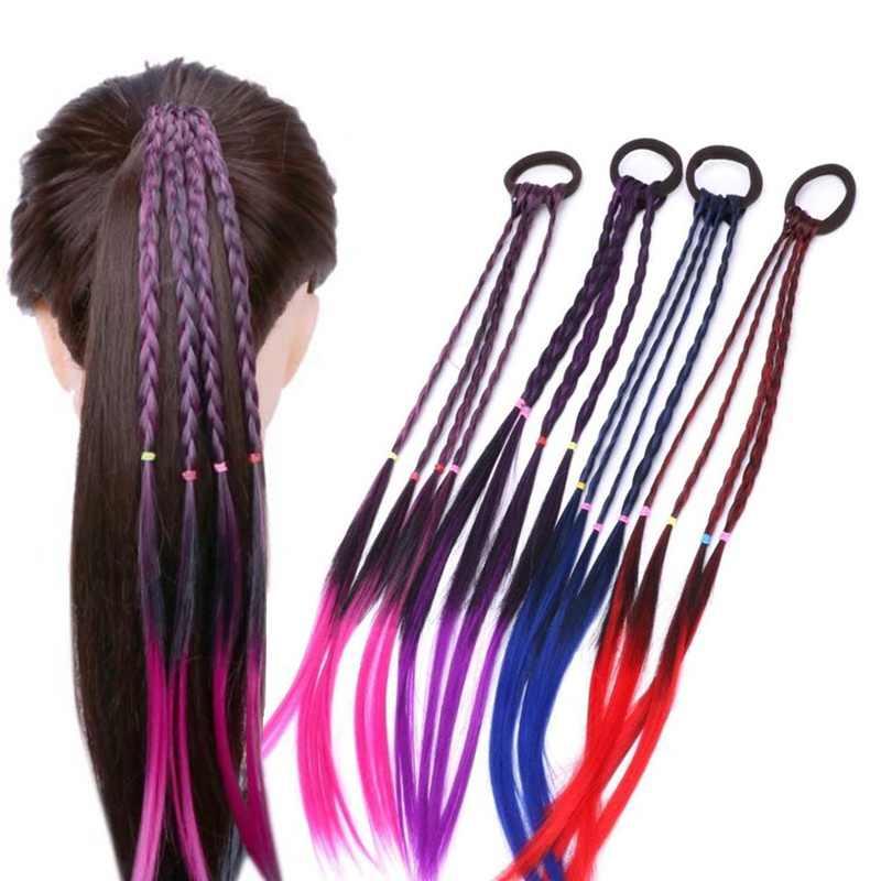 Простые детские голову эластичная повязка для головы с нахлестом резинкой аксессуары для волос Детские парик для девочек с повязкой на голову для жгута, косички Очелье детского подарка
