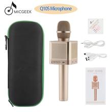 Оригинальный MicGeek Q10S беспроводной караоке микрофон 2,1 Звуковая дорожка мерный звук изменение голоса 4 колонки смартфон караоке