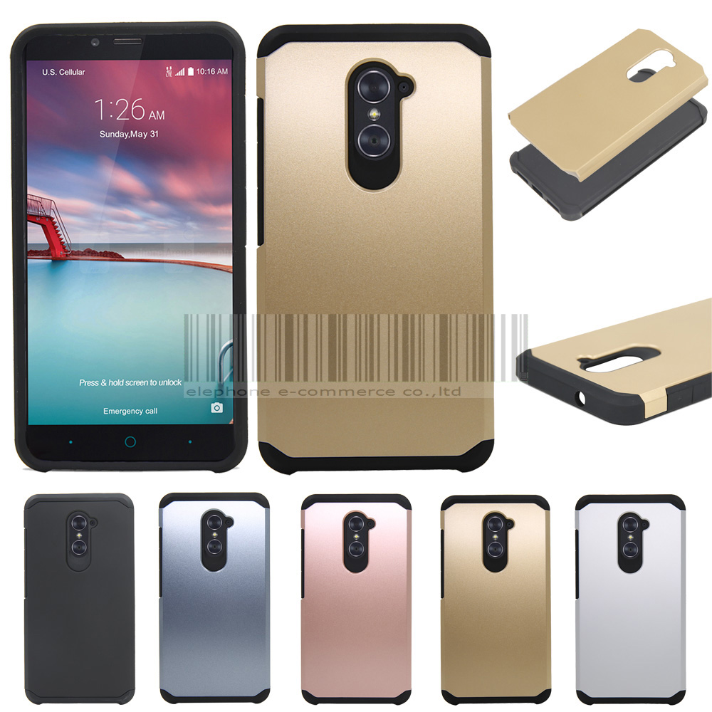 Phone Case For Zte Imperial Max Z963u Grand X 2 Anti Shock 2in1 Brushed Hybrid Armor Soft Lg K8 Hardcase Protective Rugged Impact Hard Back Cover Skin In Fitted Cases From