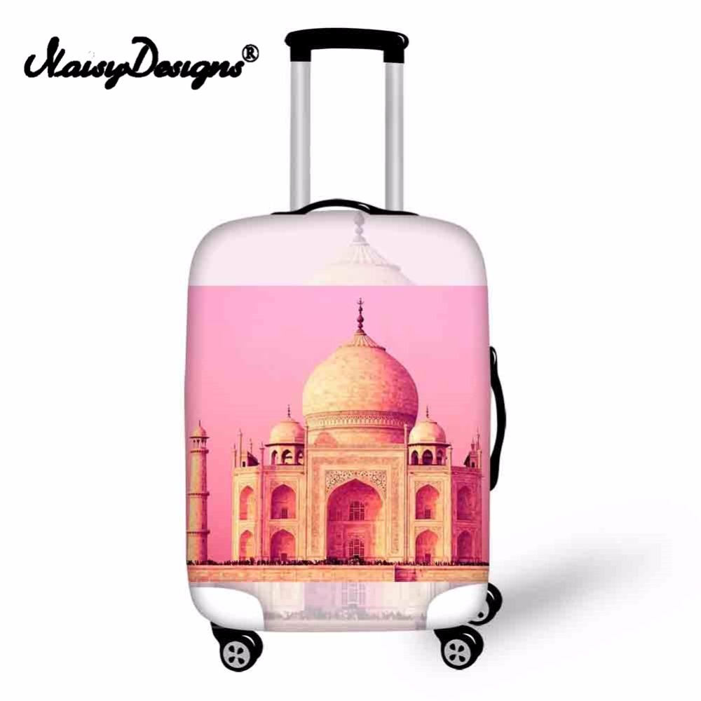 Noisydesigns Girl World Attractions Elastic Fashion Protective Cover Dust-proof Anti-scratch Portable Trunk Case for S/M/L
