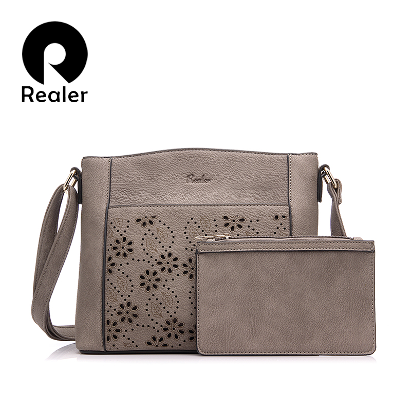 Aliexpress.com  Buy REALER Brand Vintage Shoulder Bag Female Small Crossbody Bags Hollow Out ...