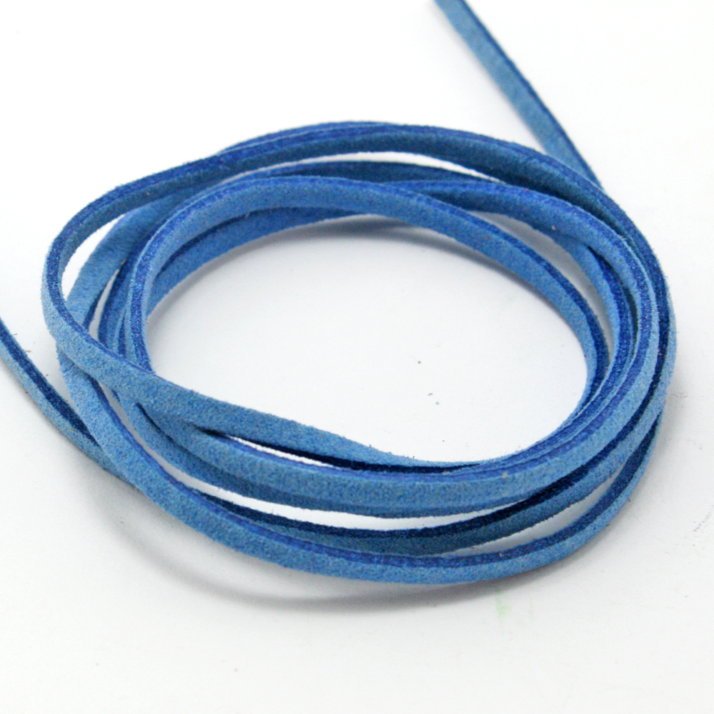 4M/lot 3mm Flat Faux Suede Korean Velvet Cord String Rope Thread ...