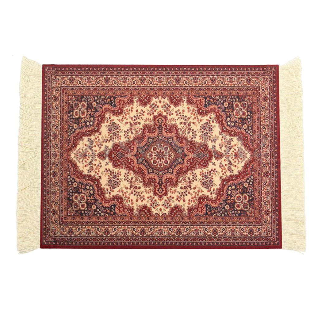 28x18cm Persian Rug Mat Mousepad Retro Style Carpet Pattern Mouse Pad Red