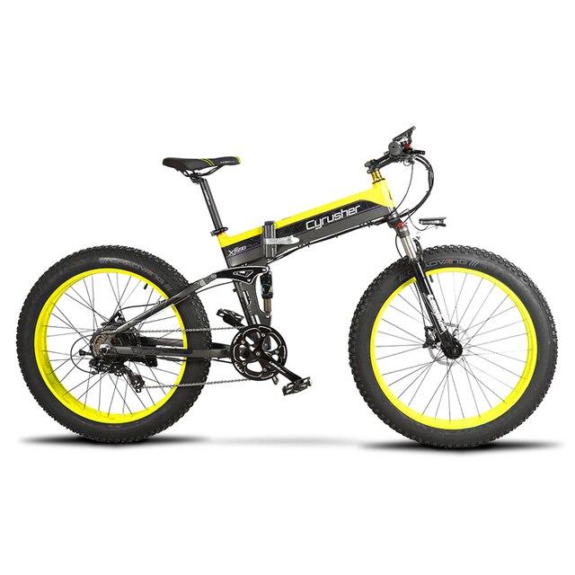 Cyrusher Cruiser складной электрический велосипед XF690 500 Вт 48 в 10А электронный Fat tire E Bike полная подвеска 7 скоростной электровелосипед