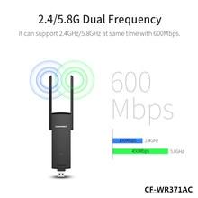 600 Мбит usb3.0 Wifi Ретранслятор 2.4 Г/5.8 Г Dual Band двойной антенны wi-fi extender COMFAST CF-WR371AC 802.11AC USB wi-fi усилитель сигнала